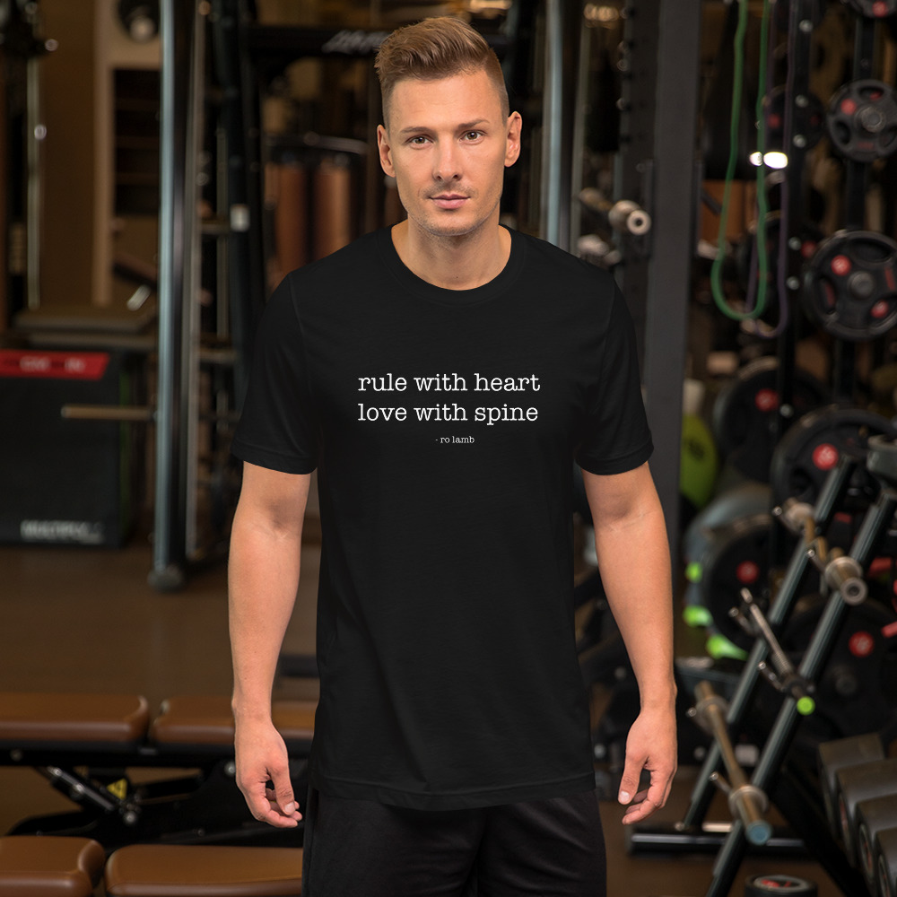 Rule With Heart Short-Sleeve Unisex T-Shirt – Black By Ro Lamb