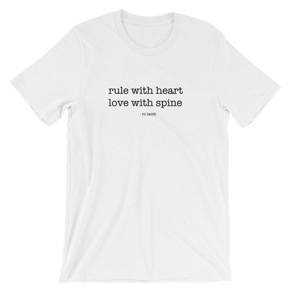 Rule With Heart Short-Sleeve Unisex T-Shirt By Ro Lamb